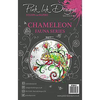 Pink Ink Designs Clear Stamp Chameleon A5