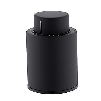 Vacuum Wine Bottle Stopper Sealed Storages  (black)