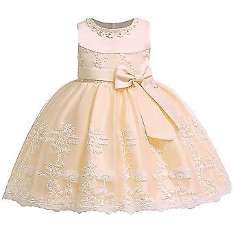 Baby Mädchen Bowknot Tutu Party Kleider Champange