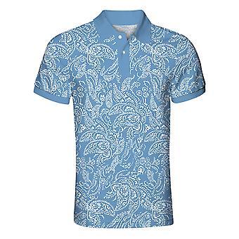 Allthemen Men's Kuvio Poolo Lyhythihainen Paita Tyylikäs Golf T-paita