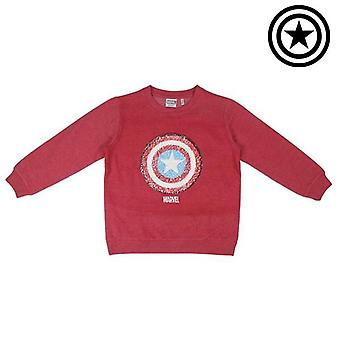 Children's sweatshirt without hood the avengers red