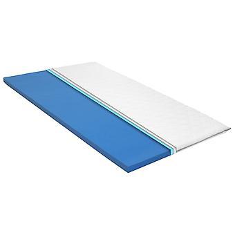 vidaXL madrass topp 160x200 cm viskoelastiskt minnesskum 6 cm