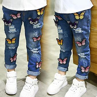 Butterfly Ripped Skinny Baby Denim Pants
