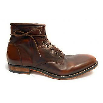 Мужская обувь Davidson Polacchino F Cuoio Moro Боливия Винтаж U15dv05