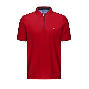 Fynch-Hatton Fynch-hatton Zip Polo Shirt Sangria