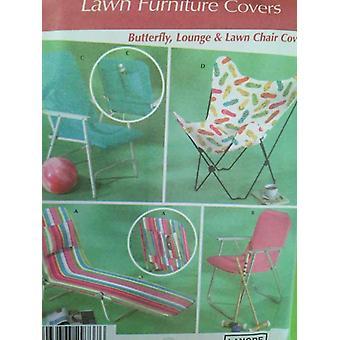 תבנית תפירה פשטות 4184 החלפת ריהוט מדשאה לכסות כיסא נימול