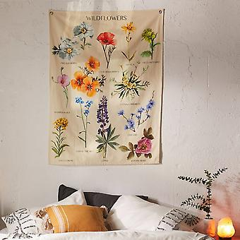 1pcs Home Wildflowers Printed Decorative Tapestry
