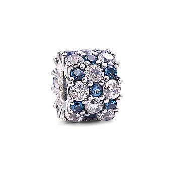 PANDORA Blue and Clear Sparkle Charm - 798487C02