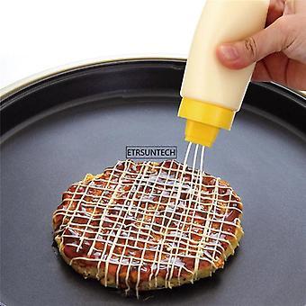 0pcs nueva cocina plástico exprimir botella