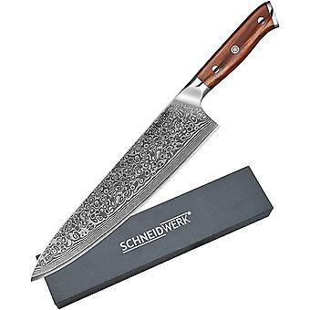 Chef-Messer Damastmesser, Kchenmesser 25,5 cm Klingenlnge, 67 Lagen Edelstahl-Damast, Kochmesser