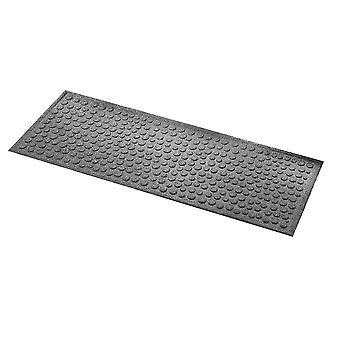 Millbrook Deurmat Rubber Backed Anti - Slip Step Mat Dots Design 45 x 120 cm Fossil Grey