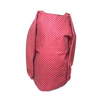 Avental manchado vermelho