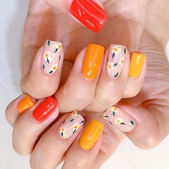 Nail Art Color Mixed Flower Wood Pulp Piece Decoration