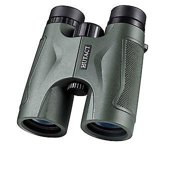 Binocolo HUTACT 10x42 Verde scuro, adatto per birdwatching, campeggio e viaggi, connettore treppiede gratuito, doppio cinturino e clip per telefono (verde)