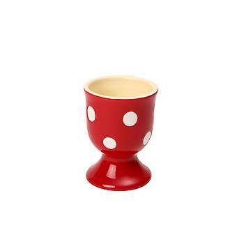 Dexam Polka Dot Egg Cup, Claret Red