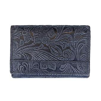Arrigo 02B-337BP Dblw, Leather Wallet. Woman, Dark Blue, Medium