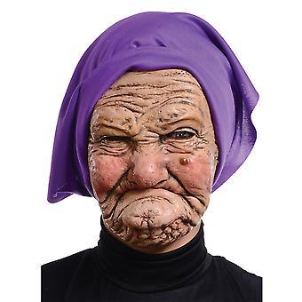 Babička Stará babička Stará žena Dámske kostým 3/4 Latex maska