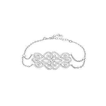 Kongelig rose armbånd sølv