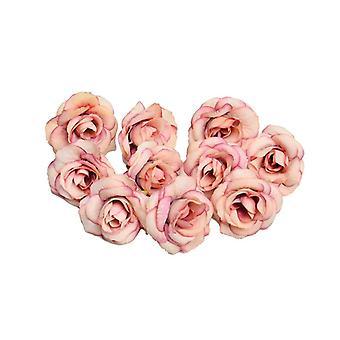 kunstig blomst silke hode, bryllup hjem dekorasjon tilbehør, diy krans,