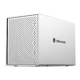 "Aluminium 5 Bay Festplattengehäuse,Externe USB3.0 SATA Festplatte Gehäuse Lagerung für 3,5"" /2,5"""