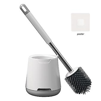 Wall-mounted toilet bowl brush set with soft bristle cai600