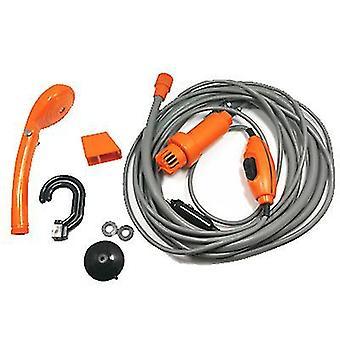 Orange portable 12v car camping shower outdoor camper caravan hiking clean travel kits az9496