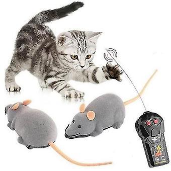 Nowy Kot Mysz Zabawki Elektroniczny Bez drutu Zdalny Pilot Zdalny Sieka Zabawka Pod kątem Pieścić Koty Kotek ES3130