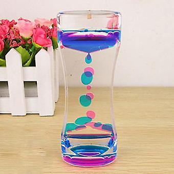 Double Colors Oil Hourglass Liquid Floating Motion Bubbles Timer Desk Decors