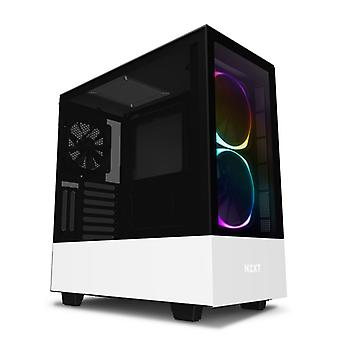NZXT H510 Elite Midi Tower RGB Gaming Case - Vitt härdat glas