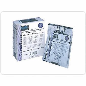DermaRite Impregnated Dressing DermaGauze 4 X 4 Inch Gauze DermaSyn Hydrogel Sterile, 15 Count