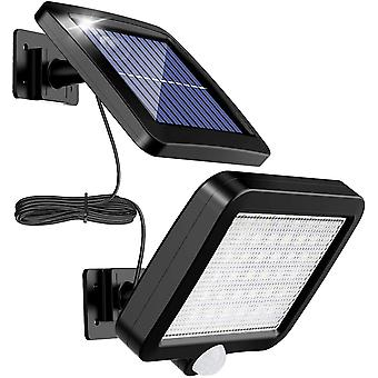 Outdoor Solar Light With 56 Led Motion Detector, 120 Ip65 Waterproof Garden Solar Light With 5 M Cable