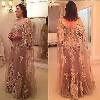 Mutter der Braut Kleider, A-Linie Tüll Spitze Langes Kleid