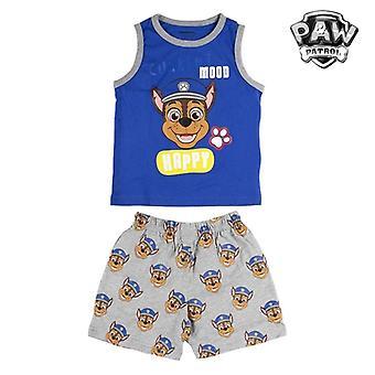 Lasten pyjama Tassupartio siniharmaa