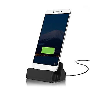 (Black) ZTE Axon 7 Max Desktop Charger USB TYPE C Base Stand
