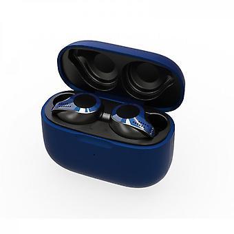 Nytt trådlöst Bluetooth-headset Bluetooth 5.0 med trådlöst laddningsfodral, aktiv brusreducering, vattentät svett, hifi hög ljudkvalitet