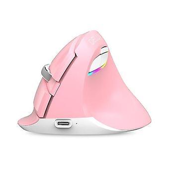 Mini mouse wireless Bluetooth+USB Clic silenzioso RGB Ergonomico Mouse verticali ricaricabili per