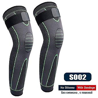 Sportovní protiskluzová celá délka kompresní rukávy nohou kolenní ortéza chrání pro basketbalový fotbal běží cyklistika
