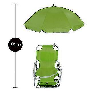 Children's Beach Folding Chair Parasol Portable Recliner(Green)