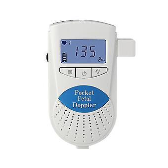 Home Pregnancy fetal heart rate monitor, Doppler non-radiation baby heartbeat monitor(Blue)