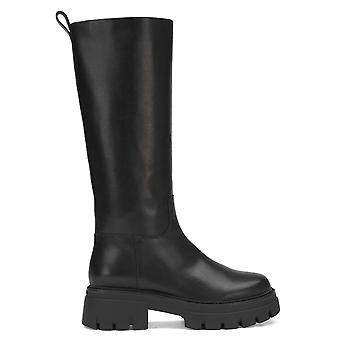 Ash LUCKY Knee High Black Leather Boots