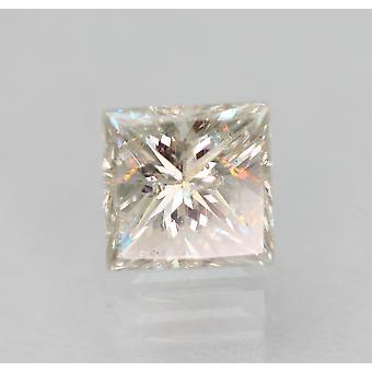Certified 0.51 Carat G SI1 Princess Enhanced Natural Loose Diamond 4.41x4.3mm