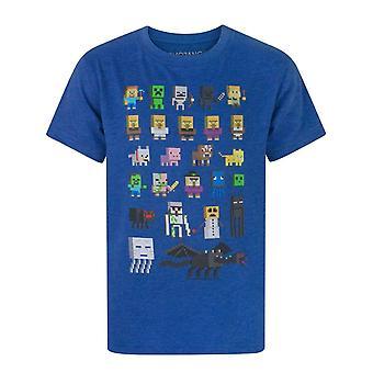 Minecraft offisielle gutter Sprites tegn t-skjorte