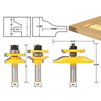 """1/2 """"Shank Ogee Rail And Stile Router 3 Bits Set Raised Panel Cabinet Door Router Bit Set"""