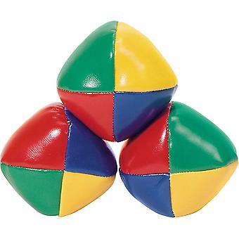 レトロ4色ジャグラーボール3パック6cm