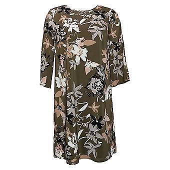 G by Giuliana Women's Dress Reg 3/4 Sleeve Floral Green 651352