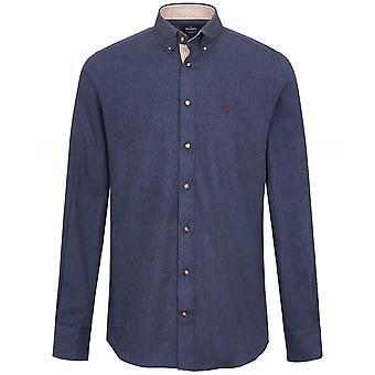 Hackett Slim Fit Melange Flannel Shirt