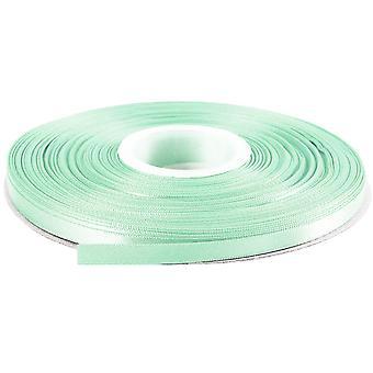 25m Mint Grøn 6mm Bred Satin Bånd til Håndværk