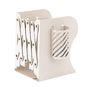 Teleskopowa składana półka na książki Biurko Biurkowa papiernicza dla studentów (biała)