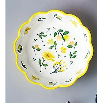 Nordic Simple Hand Painted Ceramic Salad Cake Bowl Färgglada porslin soppa Frukt Skål
