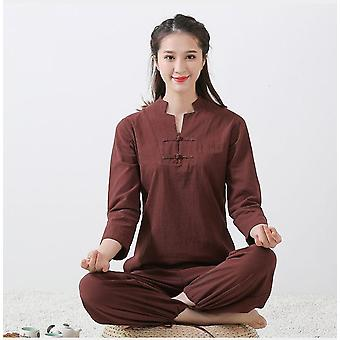 Adults Tai Chi Uniform Cotton Linen High Quality